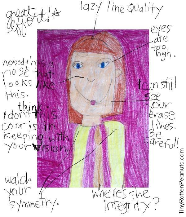 Humor: Critiquing your child's artwork • TinyRottenPeanuts.com