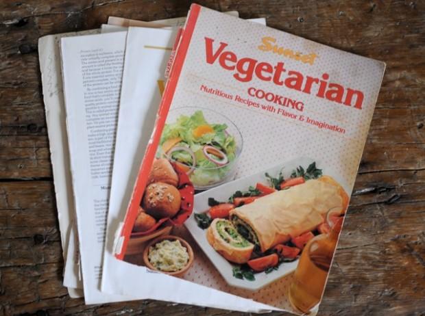 old vegetarian cook book
