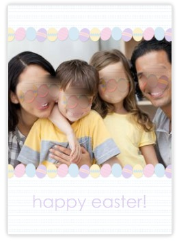 funny blurred family photo card