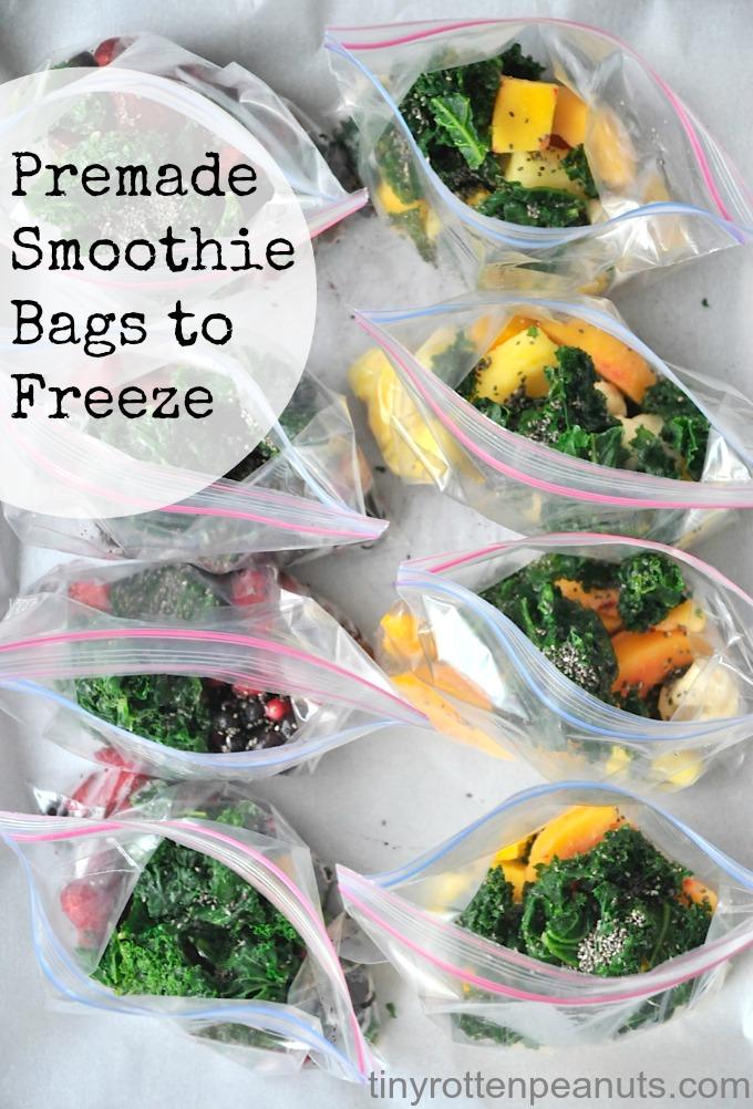 freezing individual smoothie mixtures • tinyrottenpeanuts.com
