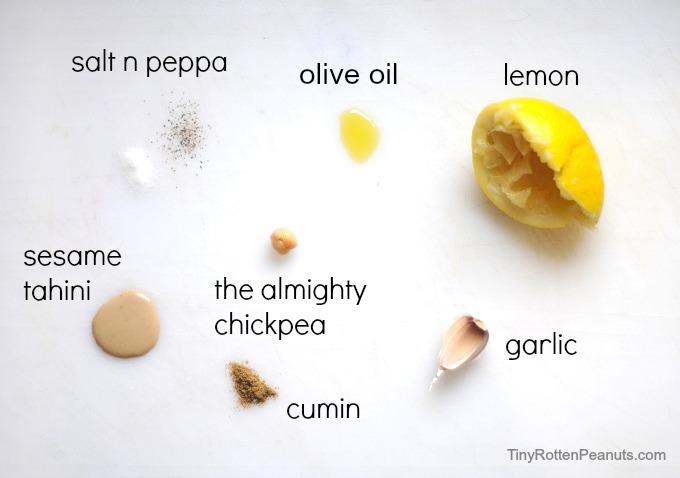 hummus ingredients. yumyumyumyumyum