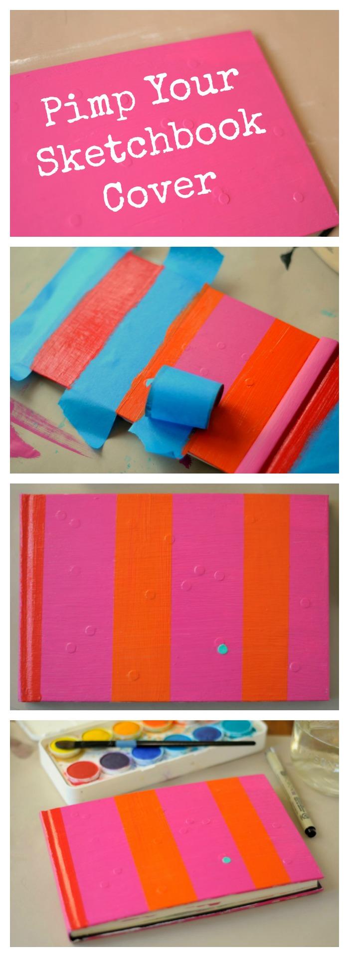 Sketchbook cover idea - paint it!