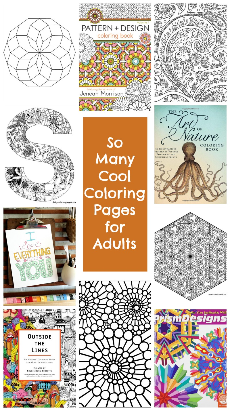 So many cool coloring pages for adults • TinyRottenPeanuts.com
