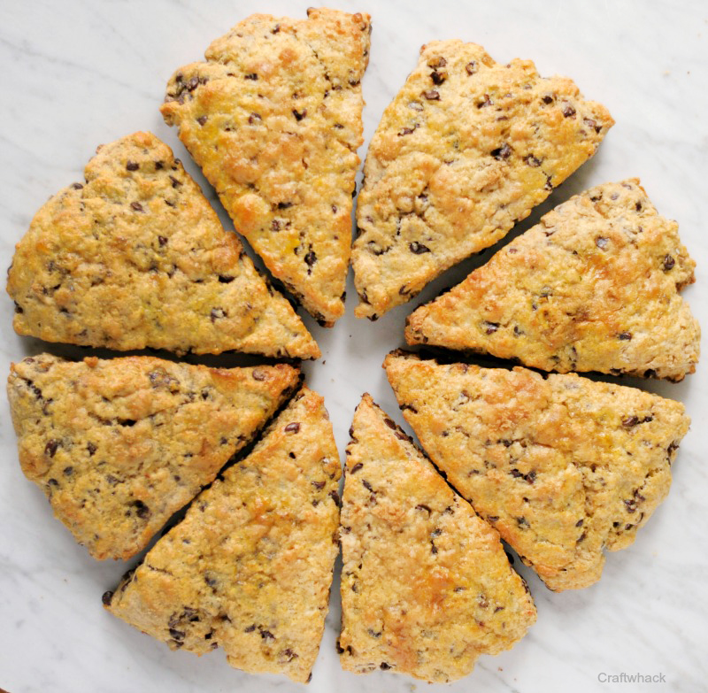 Chocolate chip scone recipe- the best scones I've ever tasted.