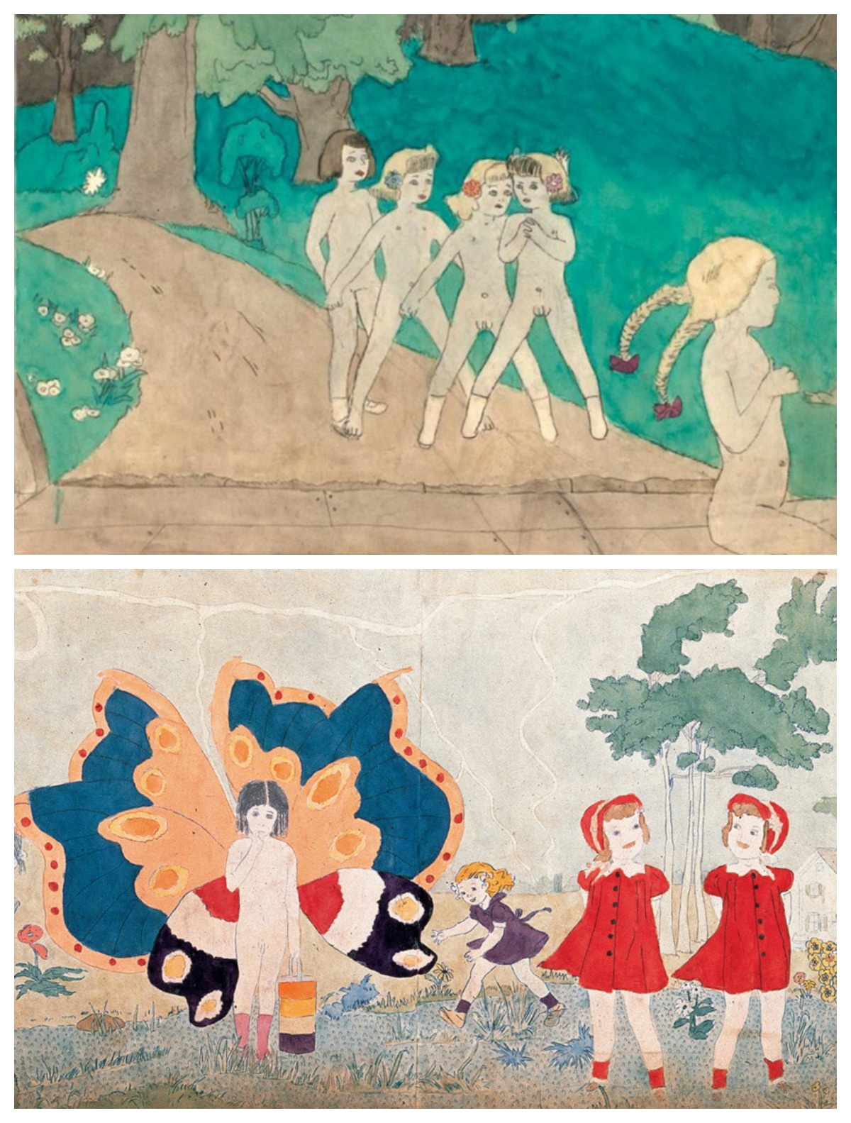 Outsider Artists- these are paintings by outsider artists Henry Darger