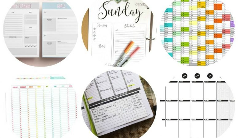 9 Printable Planners and Calendars