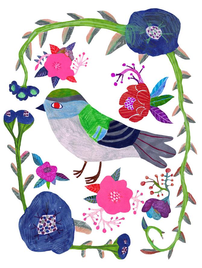 Monika Forsberg illustrations as seen on Craftwhack.com