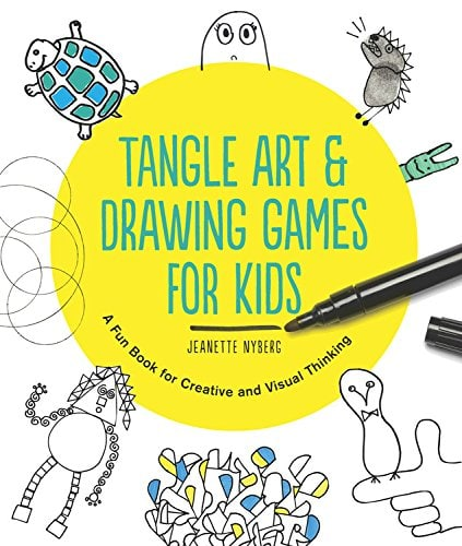 Tangle Art and Drawing Games for Kids Book