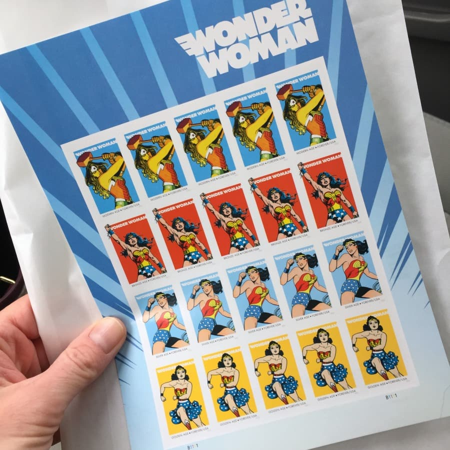 Wonder Woman stamps