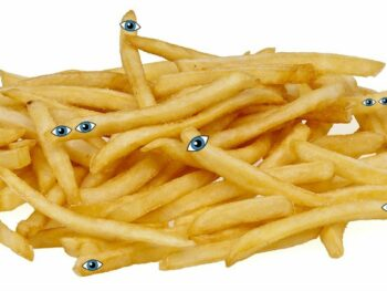 fries with eyes