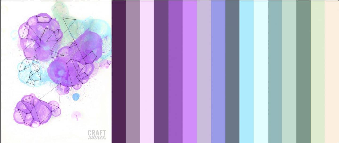 Color palette generated from uploading a jpg