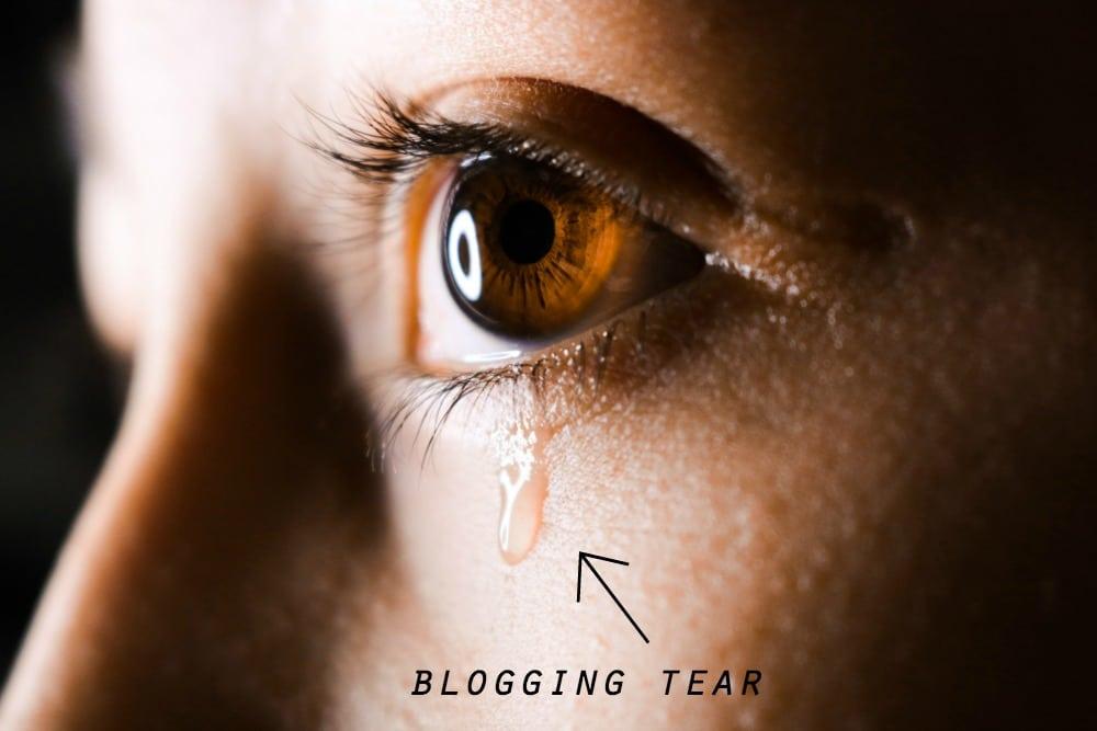 blogging tears