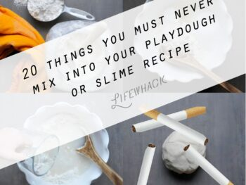 mixing up playdough with text overlay: 20 things to not mix into your playdough