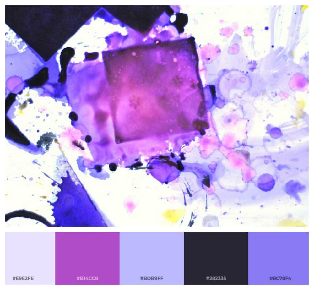 purple color palette generated from an uploaded image