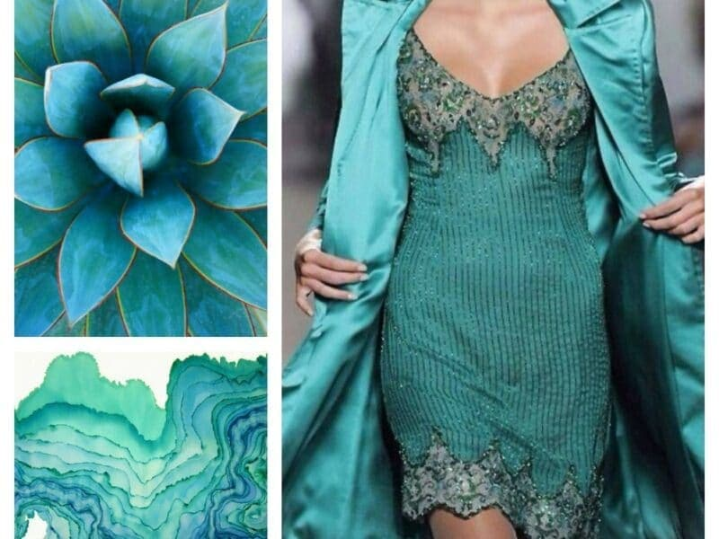 Shades of turquoise!