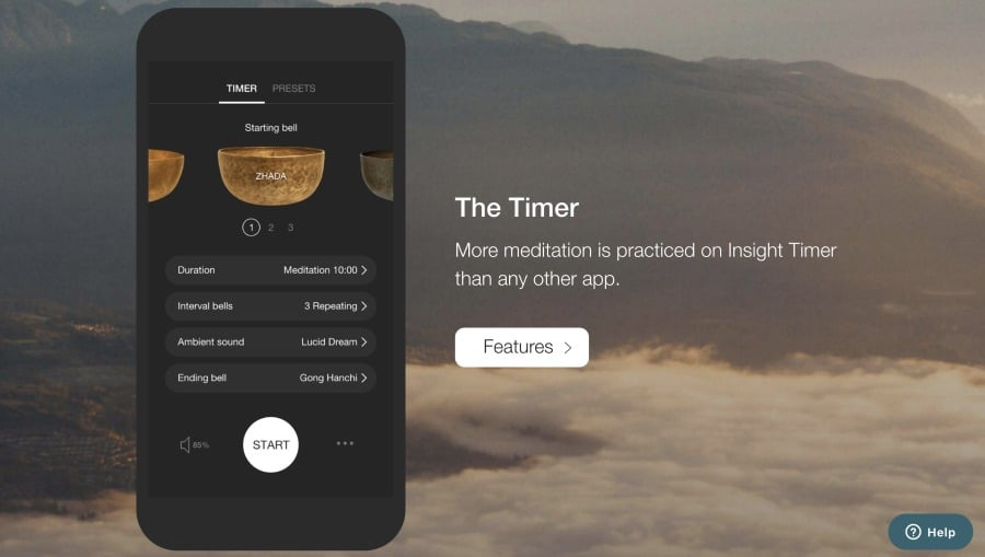 Insight Timer Meditation app