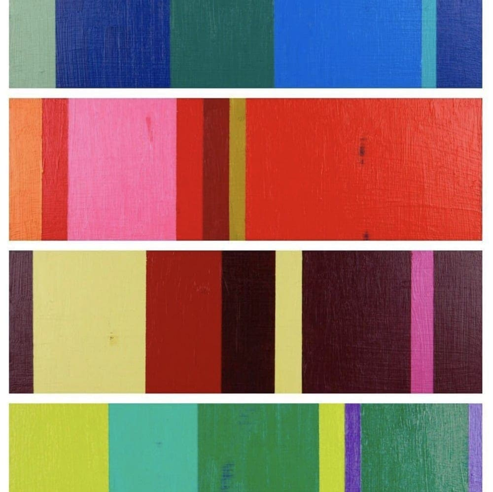 abstract acrylic stripe painting