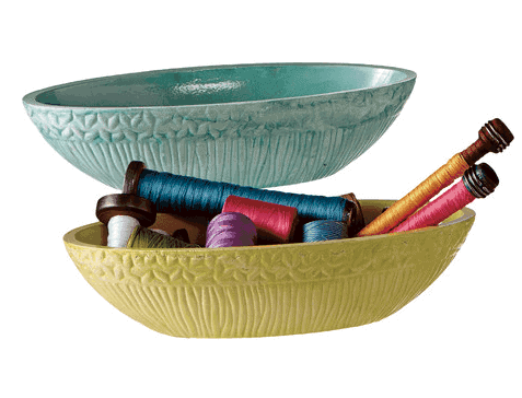 2 bowls with string